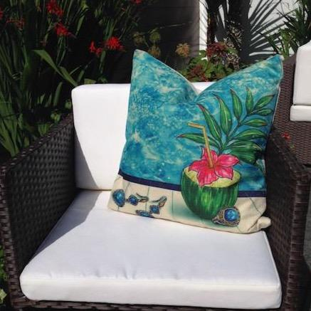 Poolside Cocktail Cushion Cover