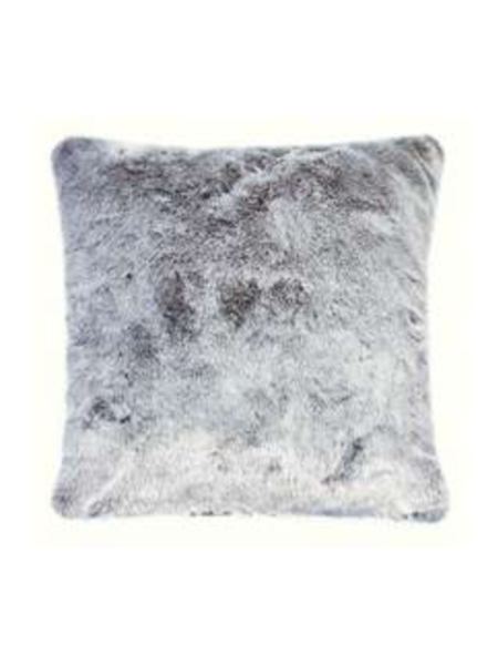 silver wolf luxury faux fur cushion