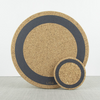 Round Cork Coasters - Set of 4