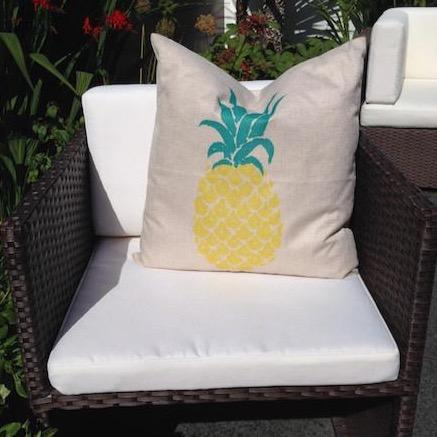 Single Pineapple Cushion Cover