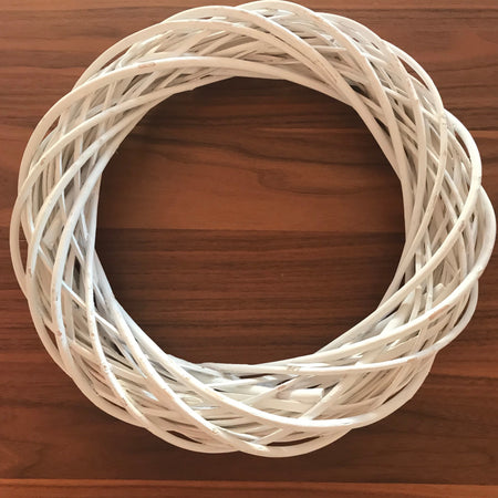 rustic white willow wreath ring