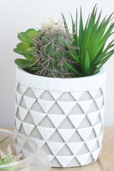 Aztec Artificial Succulents Planter