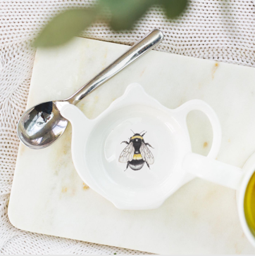bee design tea bag tidy  bee design tea bag dish