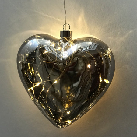 LED hanging heart decoration battery operated