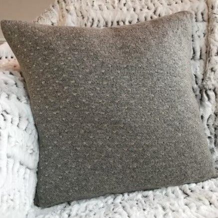 Glitter Cushion Light Grey