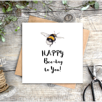 'Happy Bee-Day To You' Card