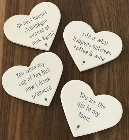 Cute Heart Coasters