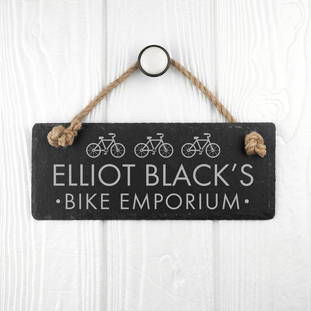 Personalised Slate Sign for Bike Lovers