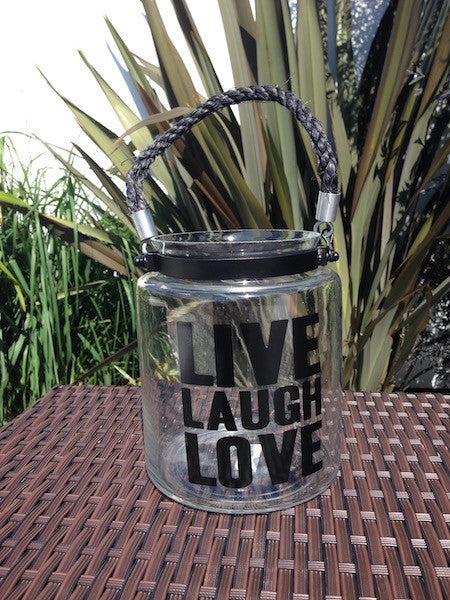Live Laugh Love Jar