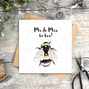'Mr & Mrs To Bee' Card