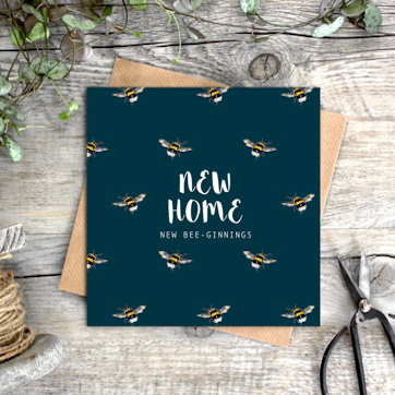 'New Home New Bee-ginnings' Card