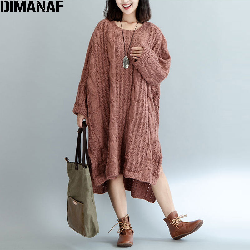 Women Sweater Plus Size Knitted Cotton