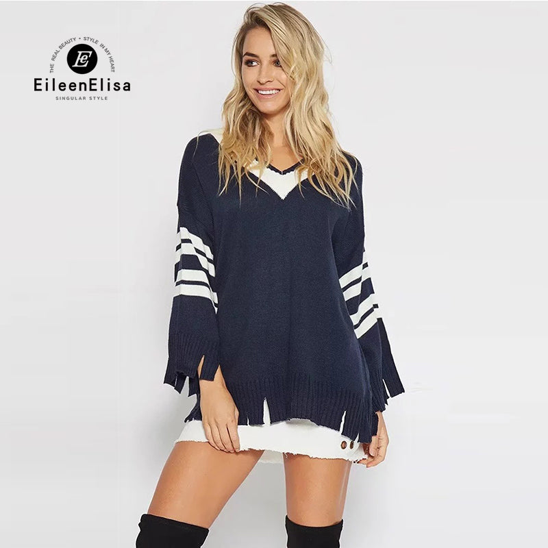 Women Pullover  Autumn Fashion V-neck