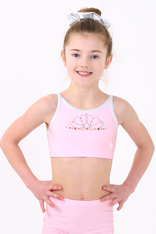 Baby Pink Princess Crop Top and Shorts