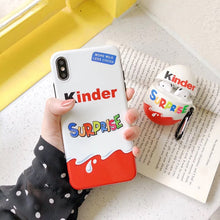 New Trolly egg KINDER JOY Surprise soft silicon cover case for iphone 6 6S 11 Pro 7 plus 8 X XS XR MAX 12 MiNi phone coque capa