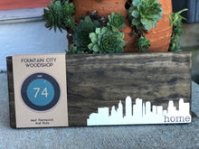 Nest Thermostat Wooden Wall Plate - Skyline