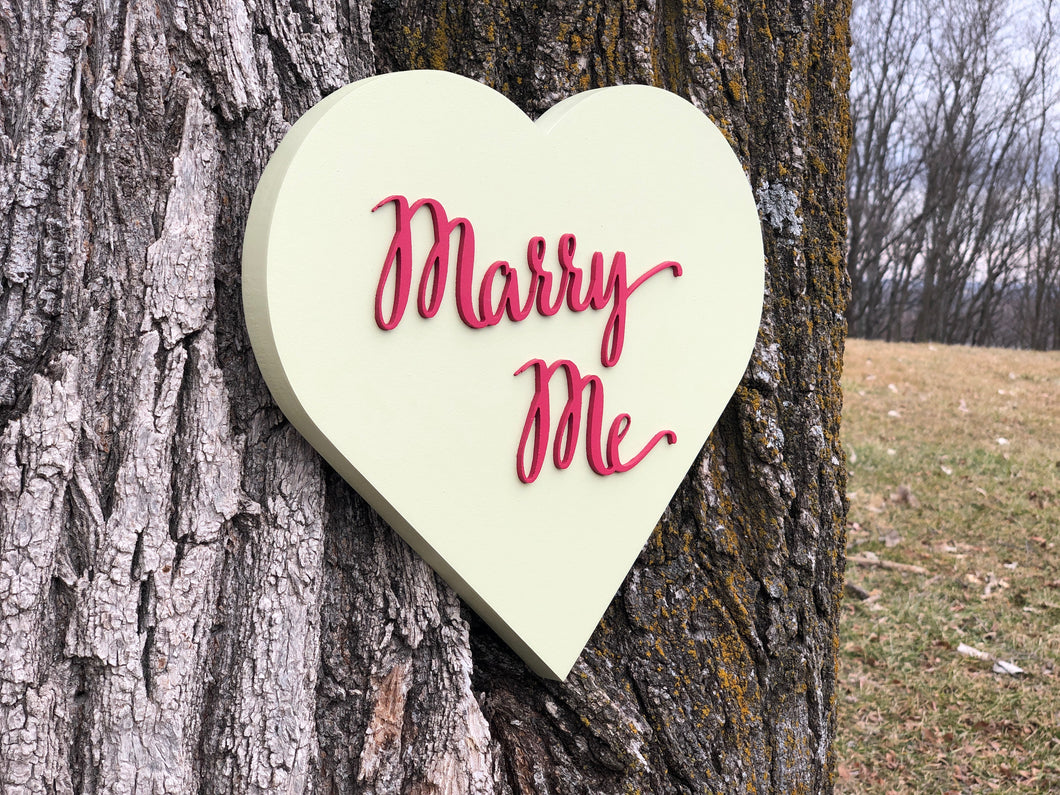 3D Conversation Heart - Marry Me