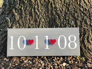 String Art Date Sign