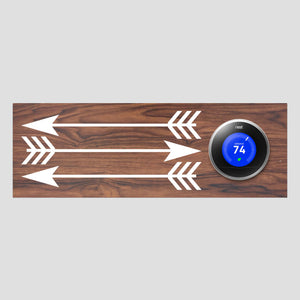 Nest Thermostat Wooden Wall Plate - Arrows