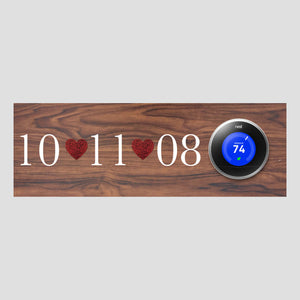Nest Thermostat Wooden Wall Plate - Date