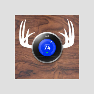 Nest Thermostat Wooden Wall Plate - Antlers