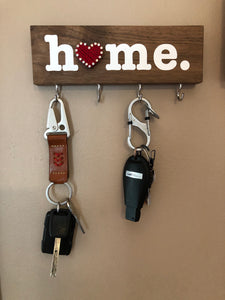 Key Rack - Home w/Heart