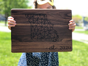 Established 2020 Walnut Cutting Board