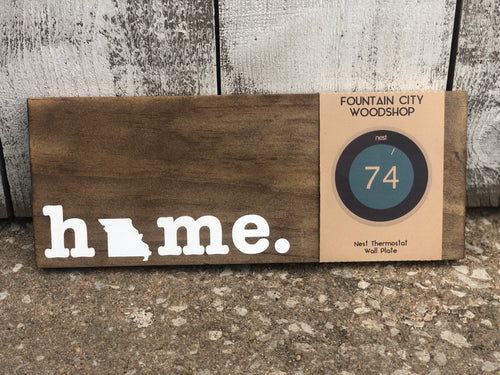 Nest Thermostat Wooden Wall Plate - Home State