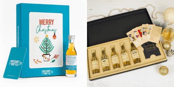 Examples of Christmas whisky gifts available at Whisky Tasting Company