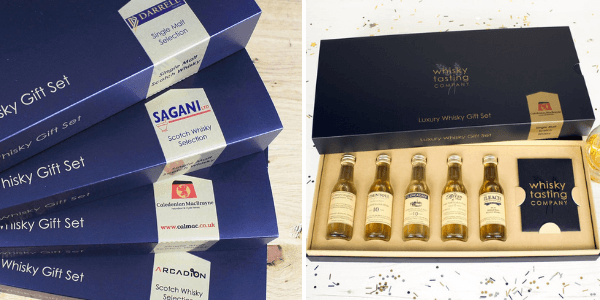 Branded whisky tasting sets that are perfect for customers
