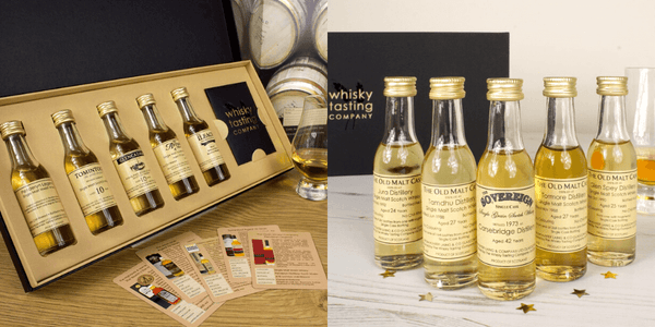 Different types of whisky in our whisky tasting sets