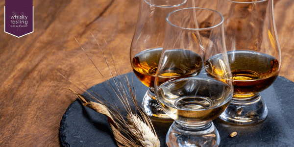 Selection of whisky flavours