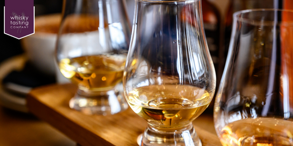 Selection of whiskies for whisky tasting experience