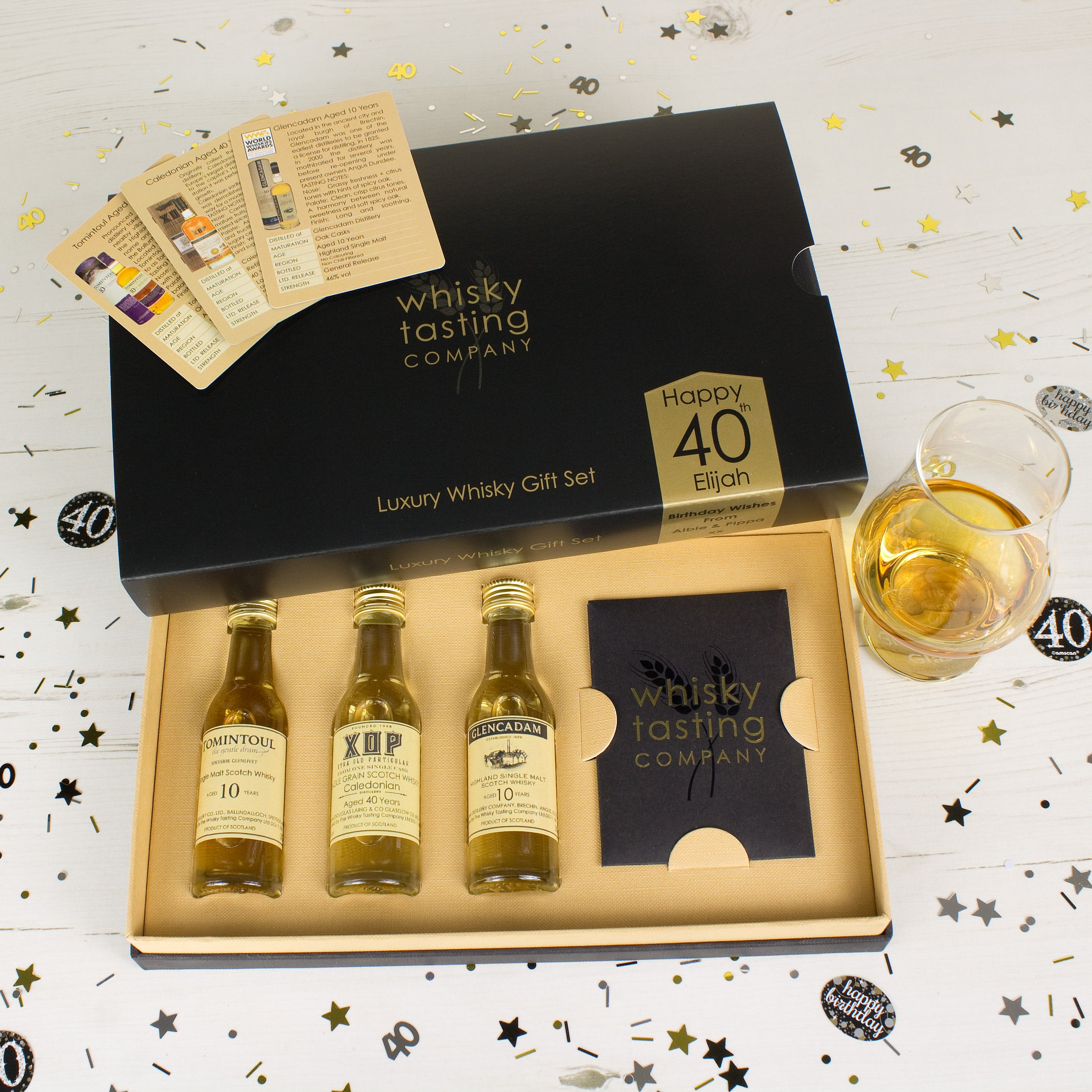 40th BIRTHDAY WHISKY SET (3 bottle)