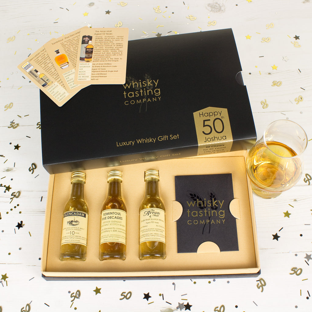 50th BIRTHDAY WHISKY SET (3 bottle)