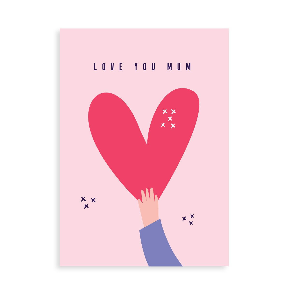 """Love you Mum"" card with gin, whisky, vodka, brandy or rum"