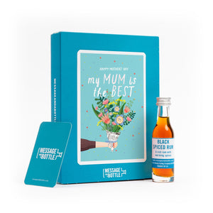 """My Mum is the best"" card with gin, whisky, vodka, brandy or rum"