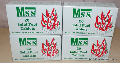 Bulk Pack of 4 MSS Solid Fuel Tablets Ideal For Mamod & Other Live Steam Engine Models