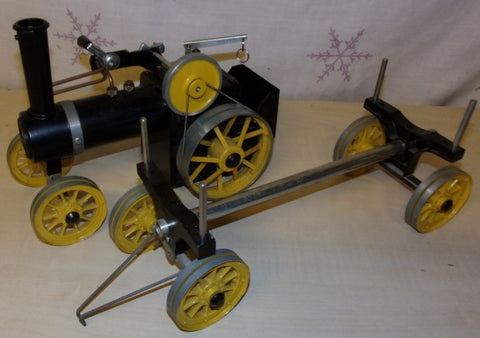 1980's Mamod TWK Live Steam Traction Engine & Log Trailer Unfired Example