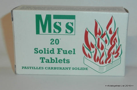 MSS Solid Fuel Tablets Ideal For Mamod & Other Live Steam Engine Models