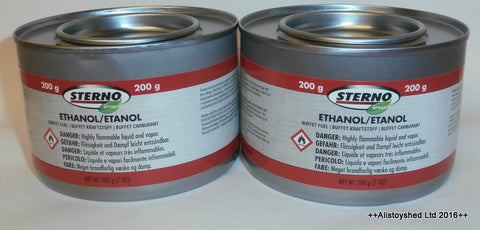 2 Tins Of Sterno Fuel Gel Ideal For Mamod & Other Live Steam Engine Models