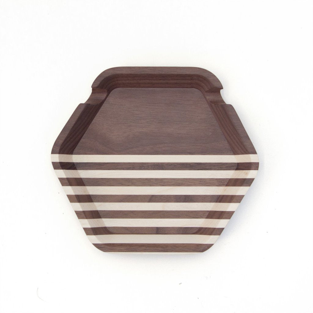 Catch All - Striped Walnut