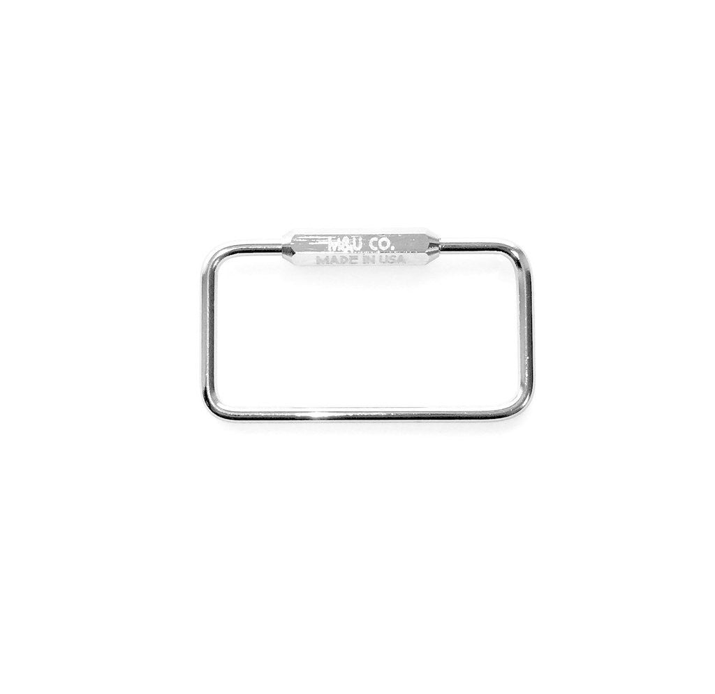 Rectangle Key Ring - Chrome