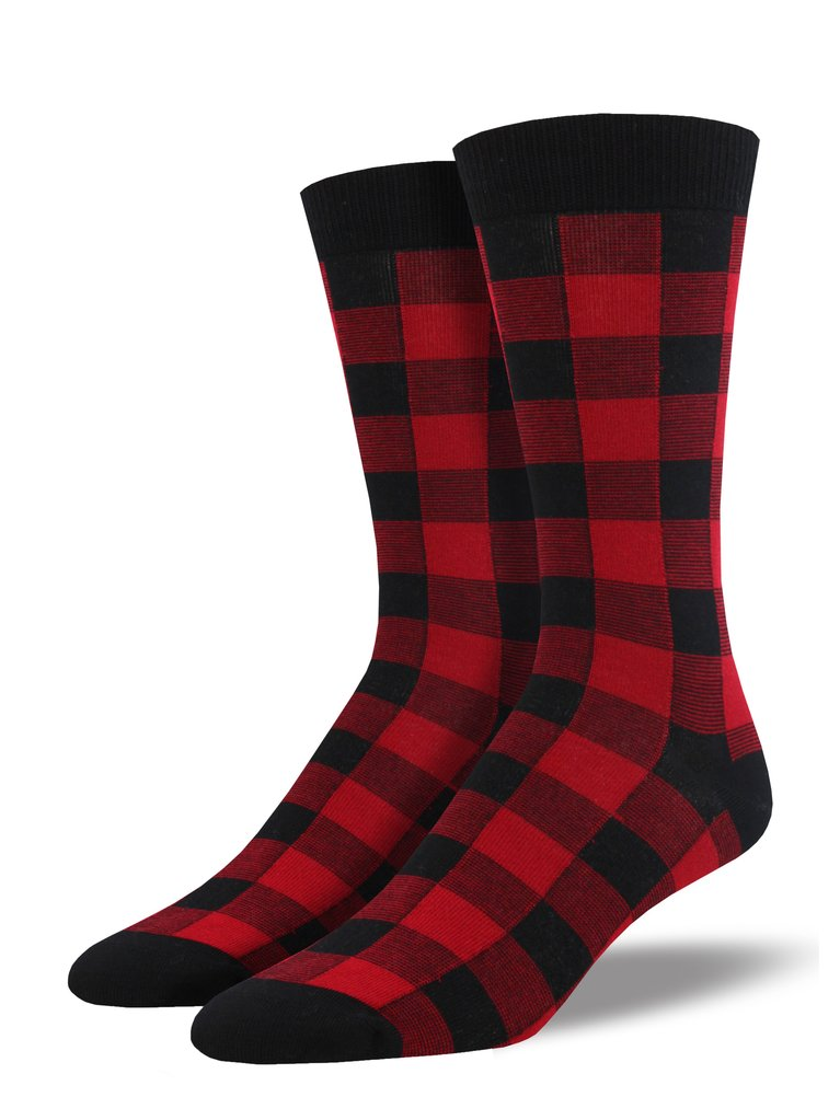 Men's Bamboo Buffalo Plaid by Socksmith