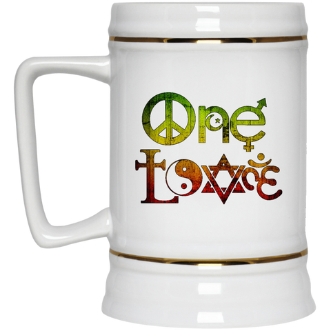 22217 Rasta One Love Beer Stein 22oz.