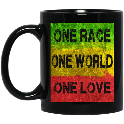 BM11OZ One Race 11 oz. Black Mug
