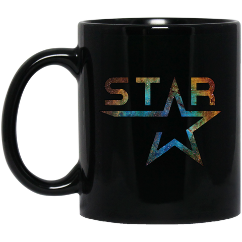 BM11OZ Galaxy Star 11 oz. Black Mug
