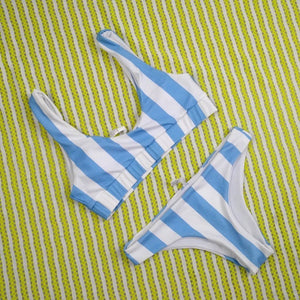 Pixie Stripe - Reversible Bikini Set - Soaked Swimwear