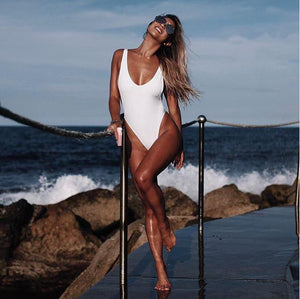 Risky Business - One Piece Stunner With Cheeky Cut Women Apparel Swimwear Onepiece