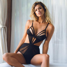 Stella - High Waist Sexy Mesh Monokini - Soaked Swimwear
